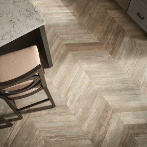 Glee chevron tile flooring | Sterling Carpet Shops, Inc