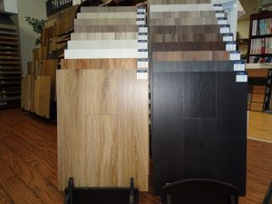 Variety of flooring products in showroom | Sterling Carpet Shops, Inc