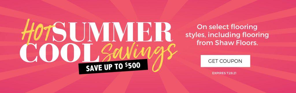 Hot Summer, Cool Savings   Sterling Carpet Shops, Inc