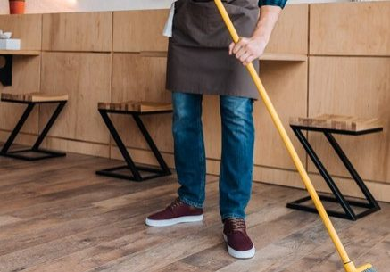 Hardwood sweeping | Sterling Carpet Shops, Inc